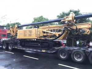 China Yellow Rotary Drilling Rigs with cummins engine max drilling depth 32m / Max output torque 100 KN.m on sale