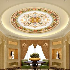 China Ceiling Art Decorative Painting, Wood Decorative Painting, Luxury Ceiling Decorative Painting on sale