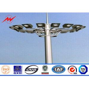 China 15M LED High Mast Light Pole Highway / Airport High Mast Lighting Pole ISO 9001 on sale