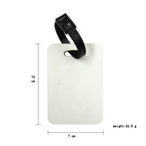 China Sublimation Hardboard Bag Tag Photo Luggage Tag on sale