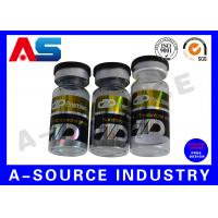 Organic Adhesive 10ml Vial Labels Vitamin Bottle Label Hot Foil Embossing