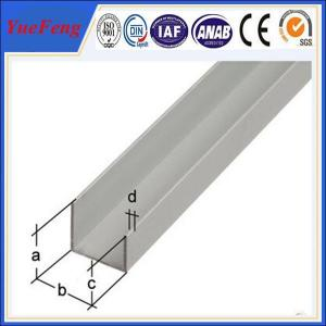 China aluminium profile for industrial material, good channel 40x30x2mm aluminium u profile on sale