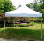 White Backyard Gazebo Tent UV Resistant For Beach / Backyard Camping Parties