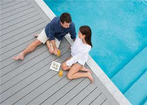 China Grey WPC Composite Decking Board / Outdoor Floor Decking Tiles on sale