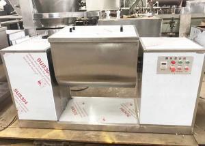China Trough Ribbon Blender Mixer Machine , High Efficient Powder Mixing Equipment on sale