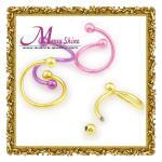 ombligo circular de la joyería de 2012 el nuevo del barbell de los hombres de la ceja perforaciones del cuerpo suena BJ63