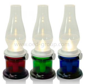 China Blowing Control Modern Kerosene Oil Lamp for Bedroom with Glass Shade on sale
