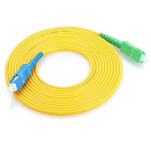 China FTTH Fiber Optic Cable Patch Cord , SC APC  SM 1m 3m 5m Patch Cord Fiber Optic on sale