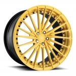 Porsche Forged Wheels  22 inch gold painting alloy aluminum 3 piece forged wheels rims 5x130