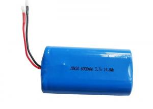 China 3.7 Volt Lithium Ion Battery 6000mAh 18650 2P  Rechargeable Battery Pack on sale