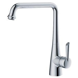 China Polished Chrome Kitchen Sink Water Faucet , Deck Mounted One Hole Kitchen Faucet on sale