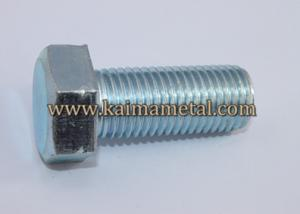 China Hex head screws white zinc plated finish on sale