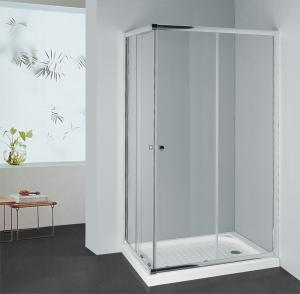 China S-2010 Square sliding door 6mm glass in different size shower enclosure corner entry on sale
