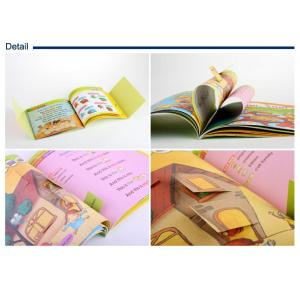 China Square format DIY childrens book printing / die cutting designs and movable stickers on sale