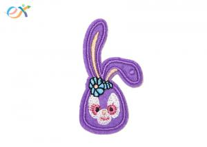 China Cartoon Rabbit Iron On Embroidered Patches Custom Made With Long Life on sale