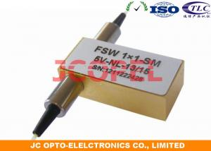 China 1x1 Mechanical Fiber Optic Switch Single Mode 1260 - 1620nm Available on sale