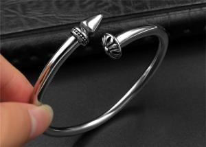 China Punk Womens Black Open Bangle Bracelet With Customized Logo , CE Certisficated on sale