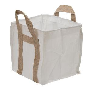 China Fully Belted 1 Ton Bulk Bag Square Full Open Top Available Side Discharge Design on sale