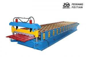 China Cold Rolled Steel Color Steel Roll Forming Machine PLC Control For Roofing on sale