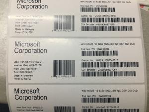 China Windows 10 Home Microsoft Windows Activation Key OEM License Coa Sticker Download on sale