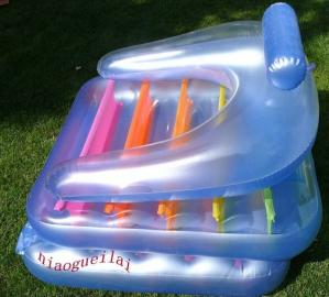 China Eco Friendly Inflatable Water Air Mattress 0.25mm PVC For Amusement Park on sale