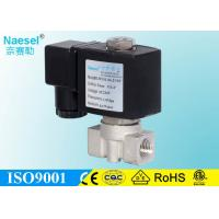 China Flow Control Stainless Steel Solenoid Valve 16 Bar 232 Psi Pressure 3 / 8 NPT Thread on sale