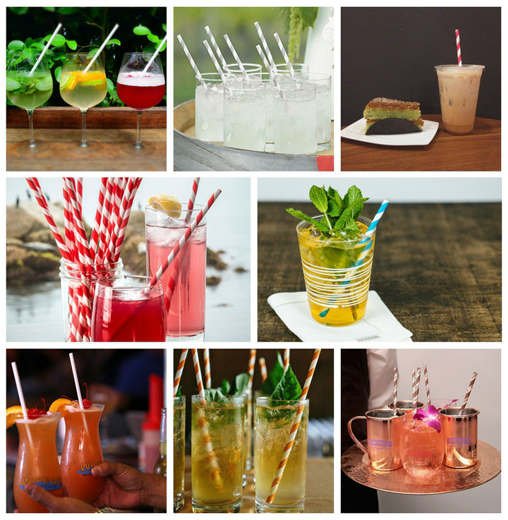 Custom Printed Colors FDA Approved 80GSM Drinking Straw paper For Coffee Straws