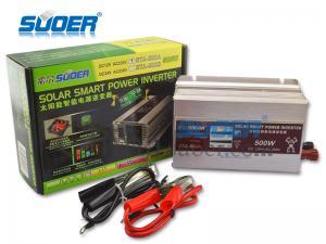 China Suoer solar power inverter 500w high efficient power inverter 12v to 220v portable power inverter on sale