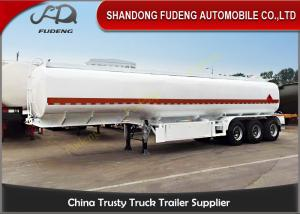 China Steel Fuel Tanker Semi Trailer For Petrol / Diesel / Crude Oil Transportation on sale