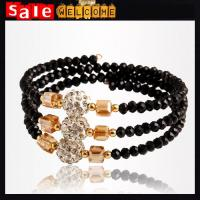 Multilayer Bracelet Rhinestone Crystal Beads Diamond Geometric Bangle Bracelet Banglets