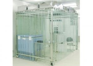 China Movable Vertical Air Flow SoftWall Clean Room 304 Stainless Steel Cleanroom on sale