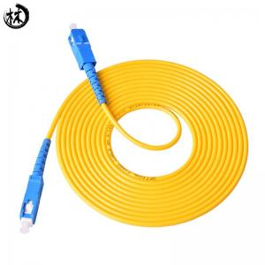 China 10M UPC SC-SC Fiber Jumper Cables , Fiber Optic Network Cable High Temperature Stability on sale