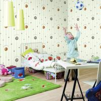 Best Selling Football Design Walllpaper Modern Chinese Manufacturer PVC Kids Room