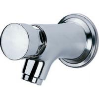 China Water Saving Chrome Self Closing Faucet Taps Wall Mounted for Home Hotel , HN-7H05 on sale