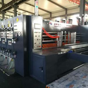 China High Precision PLC Flexo Die Cutting And Printing Machine 30-50KW Power on sale
