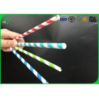 Surface Paper 60g 100% Recycled Biodegradable Food Grade Paper Roll , Paper Drinking Straw Material