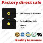 FTTH Fiber Optic Drop Cable gjxfh with 2 cores B6.A1 G657A1 single mode fibers FRP strength  LSZH sheath