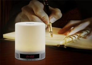 China Hot new products Wireless LED night Light alarm clock mini Speaker Bluetooth with fm radio WQ-BT029 on sale