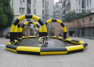 China Custom made outdoor N indoor go karts inflatable race track for zorb balls and cars on sale