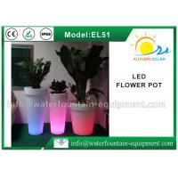 IP68 Waterproof LED Flower Pot , Smart Controlled Changing Colored Pool Lights