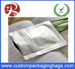 Le zip-lock en plastique de papier d'aluminium met en sac l'argent 110 microns pour l'emballage alimentaire