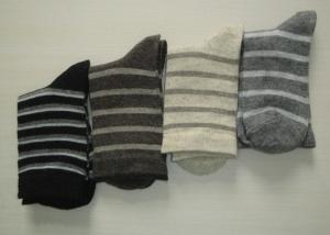 China Customized Thin Striped Wool Socks , Merino Alpaca Wool Socks For Kids on sale