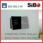 Glass Wall Mount 7 Android PoE Powered Touch Panel For Meeting Room Booking