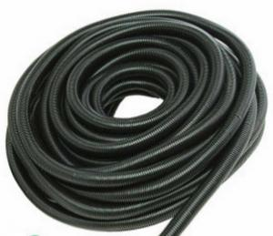 China Black Corrugated Flexible Tubing , Black Corrugated Pipe Fire Resistant Hose on sale