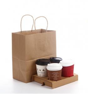 China Customized high quality and cheaper price Brown Kraft Paper Bag on sale