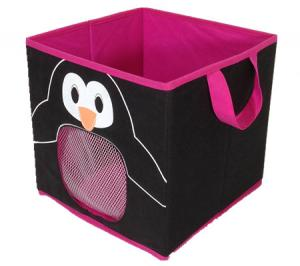 Animal Printed Foldable Kids Storage Box,toy Organizer For Kids,toy Box  Wm 2036