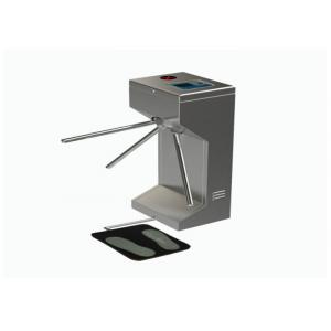 China ESD Tripod Turnstile Gate , Waist High Automated Security Gates With Lcd Screen on sale