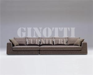 Quality Living Room Corner Fabric Sofas , Structure with Solid wood and stainless steel for sale