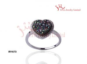 China 925 Sterling silver jewelry ring with color stone for ladies ,IR1673 on sale