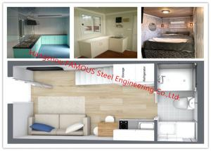 China Luxury Decoration Prefab Modular House Building With Bathroom / Kitchen / Washbasin / Bedroom on sale